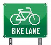 Bike Lane sinal ilustração Design