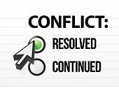 stock photo of friction  - conflict resolved question and answer selection design - JPG