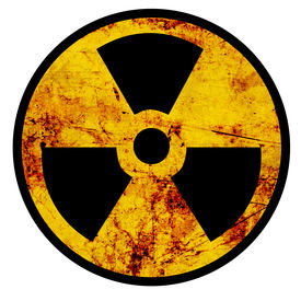 stock photo of polution  - Nuclear sign representing the danger of radiation - JPG