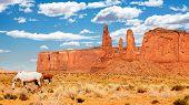 Wild horses in Monument Valley, Utah, USA