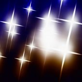 abstract background of the cruciform lights on the dark