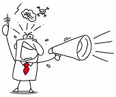 image of motivation talk  - Angry megaphone - JPG