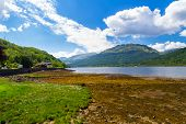 image of bute  - Stunning scenery at Loch Long Argyll and Bute Scotland - JPG