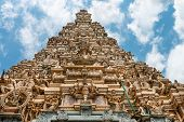 image of vinayagar  - Facade of the big traditional tower  - JPG