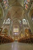 The Interior Of The Cathedral De Saint Denis, Paris
