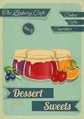 Süßwaren-Retro-Design