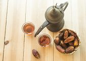 Arabic sulemani tea with dates