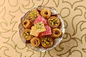 Assorted middle eastern sweets.
