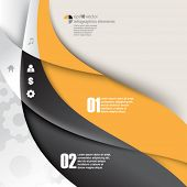 eps10 vector wave elements infographics background