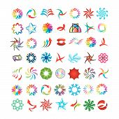 versatile collection of various color stylized design icons