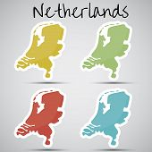 stickers in form of Netherlands