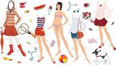 picture of doll  - Paper doll of a teen girl and clothing for her - JPG