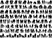 picture of joining hands  - family groups vector work - JPG