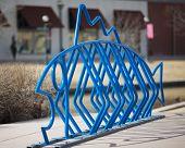 Fish Designed Public Bike Rack