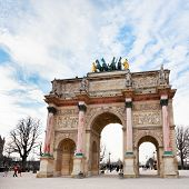 The Arc De Triomphe Du Carrousel In Paris