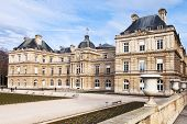 View Of Luxembourg Palace In Paris In Early Spring