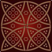 Patrón de elegancia en colores rojos vinos