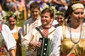 TERVENICHI, RUSSIA - JUL 7: Local people celebrated Ivan Kupala Day, Jul 7, 2013, Tervenichi, Russia