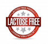 Lactose Free Food Seal Illustration