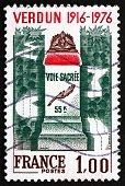Postage Stamp France 1976 Battle Of Verdun Memorial, Wwi