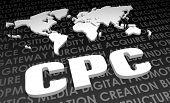 CPC padrão Global do setor no mapa 3D