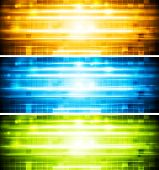 picture of bend  - Abstract shiny colourful banners - JPG