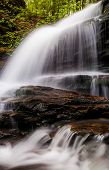 Vertical Image Of Onondaga Falls, In Glen Leigh At Ricketts Glen State Park, Pennsylvania
