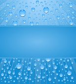 abstract background water drops  with frame