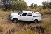 White Tata 2.2L Dicor On 4X4 Course