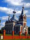 Picturesque Orthodox Church Of The Assumption Of The Blessed Virgin Mary In Slawatycze