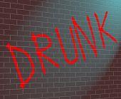 Betrunken-Konzept.