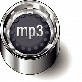 Rubber-button-round-document-file-type-mp3