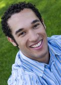 image of young men  - smiling young man - JPG