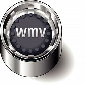 Rubber-button-round-document-file-type-wmv
