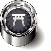 Rubber button round faith shinto