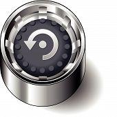 Rubber button round refresh