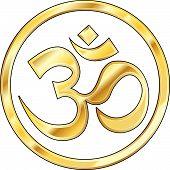 Gold Hindu Om Icon