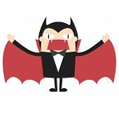 stock photo of dracula  - Cartoon vampire - JPG