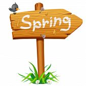 Spring wooden arrow board
