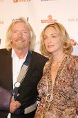 Richard Branson and Sharon Stone at the Rock The Kasbah Gala to benefit Virgin Unite and the Eve Branson Foundation. Vibiana, Los Angeles, CA. 10-26-09