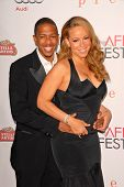Nick Cannon and Mariah Carey at the AFI Fest Premiere of 'Precious,' Chinese Theater, Hollywood, CA.