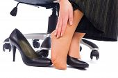 foto of hurted  - Wearing high heels has its painful disadvantages  - JPG