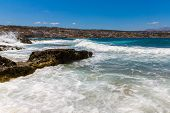 City Rethymno On Beach Of Island Crete, Greece