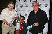 Deep Roy and sponsors at the World Cup Showdown Fundraiser, El Guapo Cantina, Los Angeles, CA.  11-0