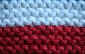 Knitted Flag Of Poland