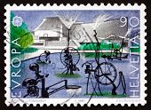 Postage Stamp Switzerland 1987 Carnival Fountain, 1977, Sculpture