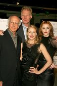 Larry David and Ed Begley Jr with Patricia Clarkson and Evan Rachel Wood  at the Los Angeles Premier