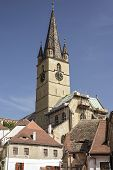 picture of sibiu  - Old church in the old part of Sibiu Romania - JPG