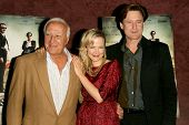 Robert Loggia with Pell James and Bill Pullman  at the Los Angeles Premiere of 'Surveillance'. The L