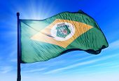 Ceara (Brazil) flag waving on the wind